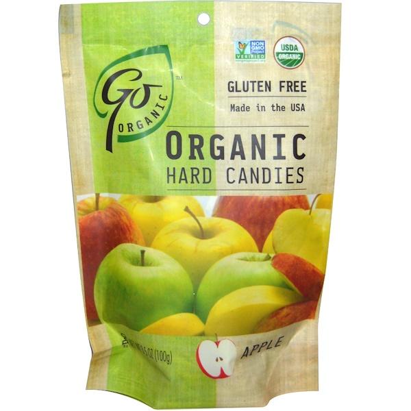 GoOrganic, Органические леденцы, со вкусом яблока, 3.5 унций (100 г) (Discontinued Item)