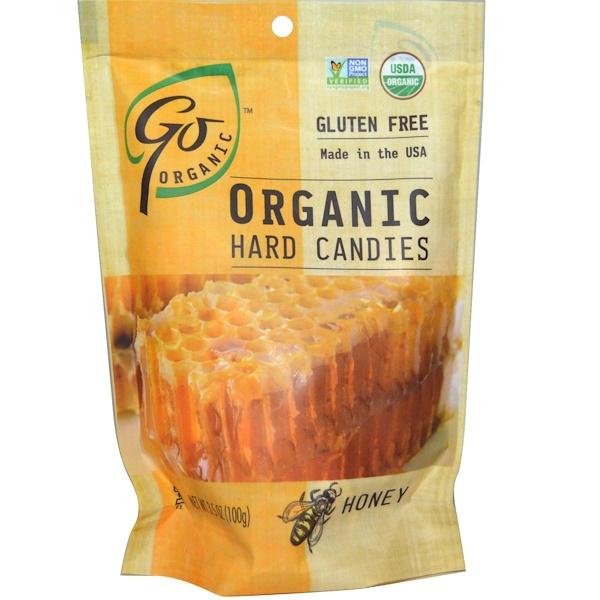 GoOrganic, Органические леденцы, мед, 3,5 унций (100 г) (Discontinued Item)