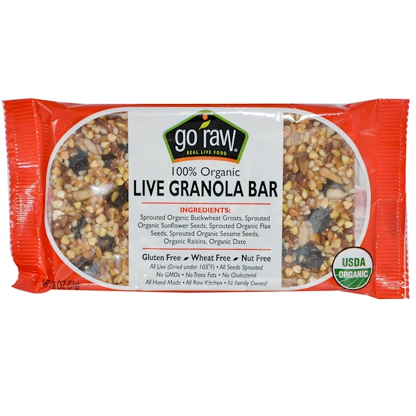 Go Raw, Organic Live Granola Bar, 1.8 oz (51 g) (Discontinued Item)