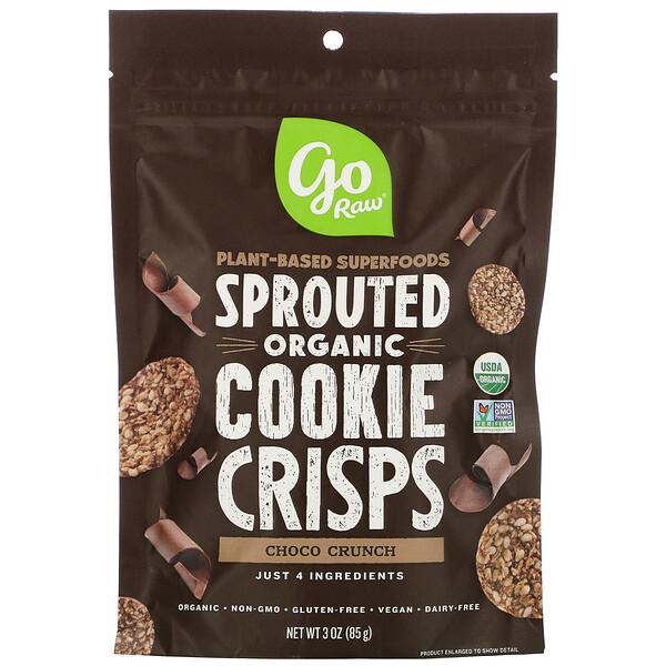 органическое шоколадное хрустящее печенье с пророщенными зернами, 85г (3унции)