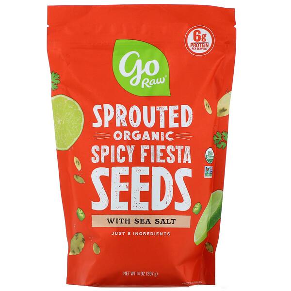 Spicy Fiesta, пряные органические пророщенные семена с морской солью, 397г (14унций)
