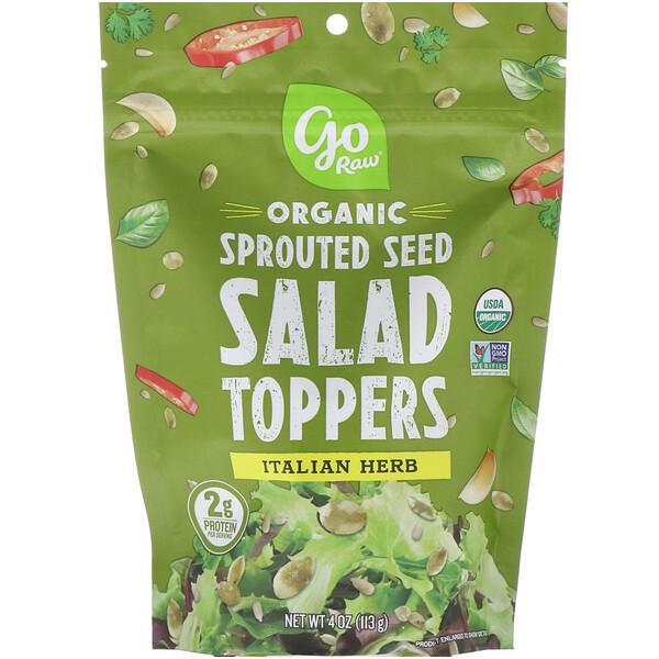 Органические пророщенные семена для добавления в салаты, итальянские травы, 113г (4унции)