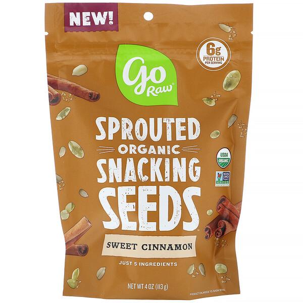 Organic, пророщенные семена, перекус, «Сладкая корица», 113г (4унции)