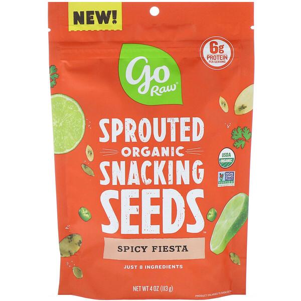 Go Raw, Organic, пророщенные семена, перекус, «Пряная фиеста», 113г (4унции)