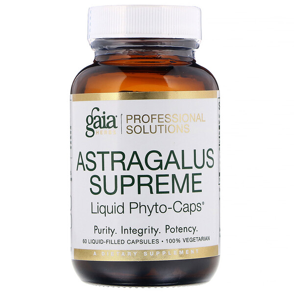 Gaia Herbs Professional Solutions, Astragalus Supreme, 60 Capsules (Discontinued Item)