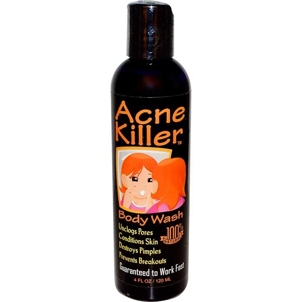Acne Killer, гель для душа 4 жидких унции (120 мл)
