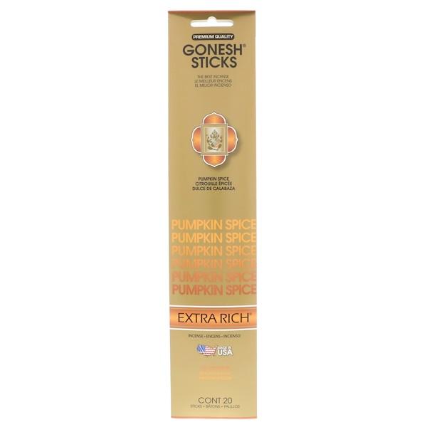 Gonesh, Ароматические палочки с интенсивным запахом, тыква и пряности, 20 палочек (Discontinued Item)