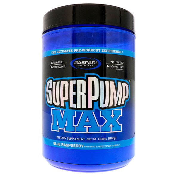 SuperPump Max, синий малиновый лед, 640 г (1,41 фунта)