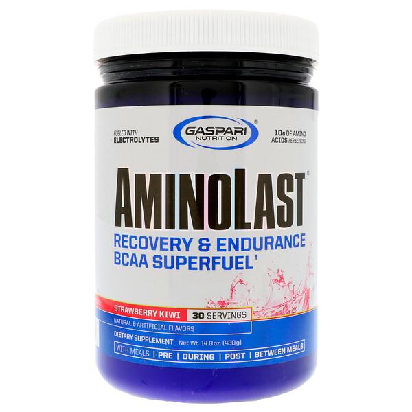 Аминоласт, восстановление и выносливость по формуле BCAA Superfuel, клубника и киви, 14.8 унции(420 г)