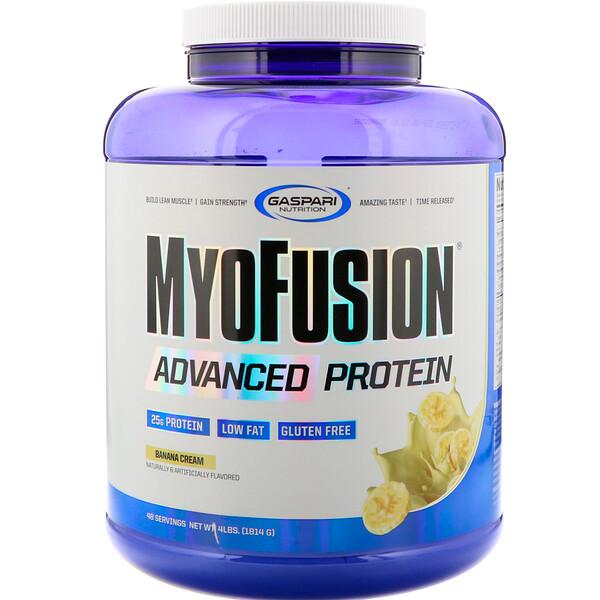 MyoFusion, улучшенный протеин, банановый крем, 4 фунта (1814 г)