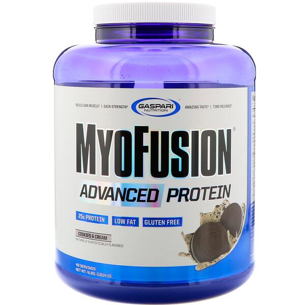 MyoFusion, улучшенный протеин, печенье и крем, 4 фунтов (1814 г)