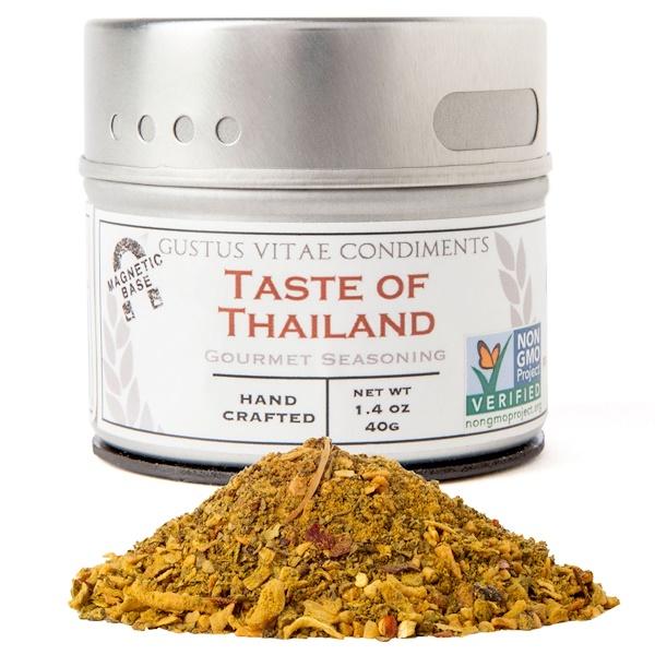 Gustus Vitae, Condiments, Изысканная приправа, вкус Таиланда, 1.4 унций (40 г) (Discontinued Item)