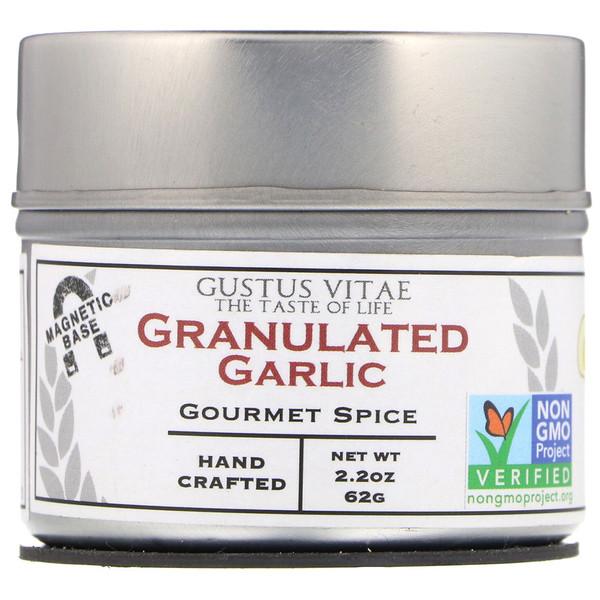 Специи для гурманов, гранулированный чеснок, 2,2 унц. (62 г)