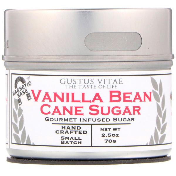 Тростниковый сахар, Стручки ванили, 2,5 унц. (70 г)