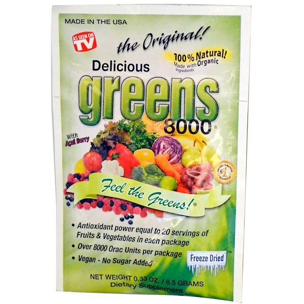 Greens World, Delicious Greens 8000, The Original, 0.33 oz (8.5 g) (Discontinued Item)