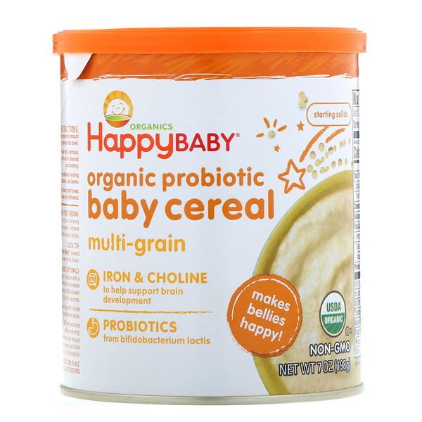 Happy Family Organics, Органическая каша с пробиотиками для детей, мультизлаковая, 198 г (Discontinued Item)