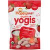 Happy Family Organics, Yogis, органические снеки из сублимированного йогурта с фруктами, клубника, 28 г