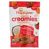 Happy Family Organics, Organic Creamies, снеки из сублимированных овощей, фруктов и кокосового молока, клубника, малина и морковь, 28 г (1 унция)