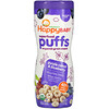 Happy Family Organics, Superfood Puffs, Organic Grain Snack, Purple Carrot & Blueberry, 2.1 oz (60 g)