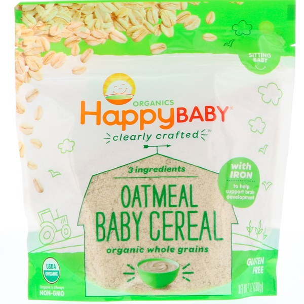 Clearly Crafted, Oatmeal Baby Cereal, 7 oz (198 g)