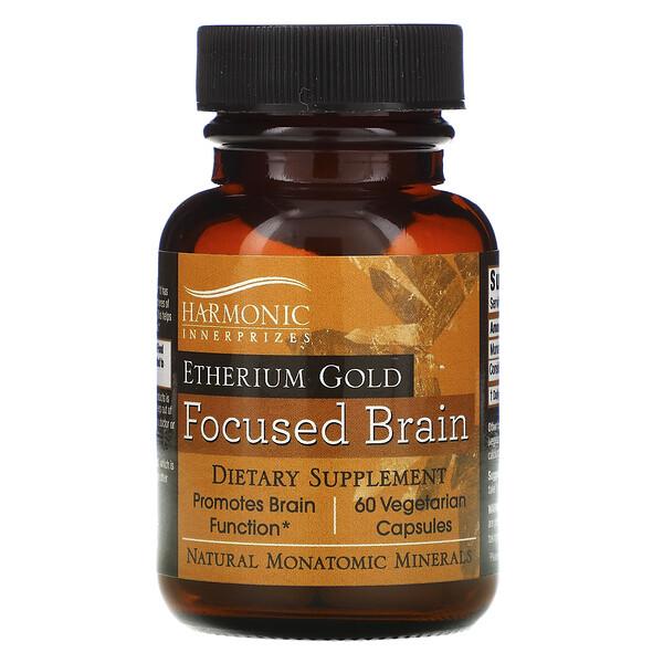 Etherium Gold, Focused Brain, 60 Vegetarian Capsules
