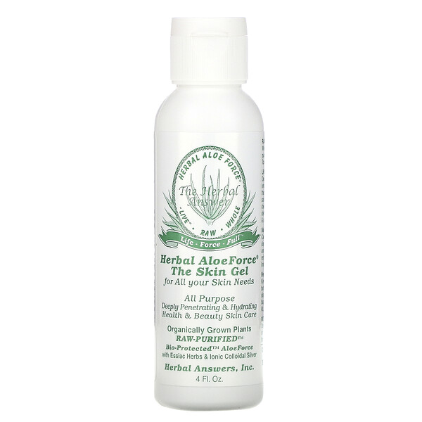 Herbal Answers, Herbal Aloe Force, гель для кожи, 4 жидкие унции