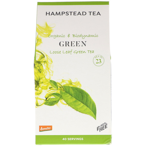 Hampstead Tea, Organic & Biodynamic, Loose Leaf Tea, Green , 3.53 oz (100 g) (Discontinued Item)
