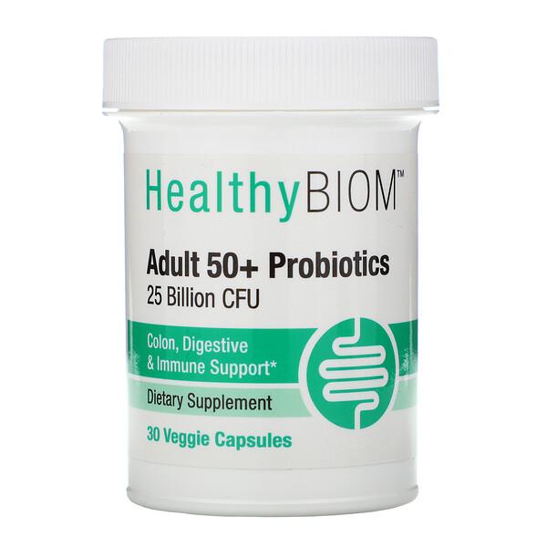 Пробиотики для людей старше 50 лет, 25 млрд КОЕ, 30 растительных капсул