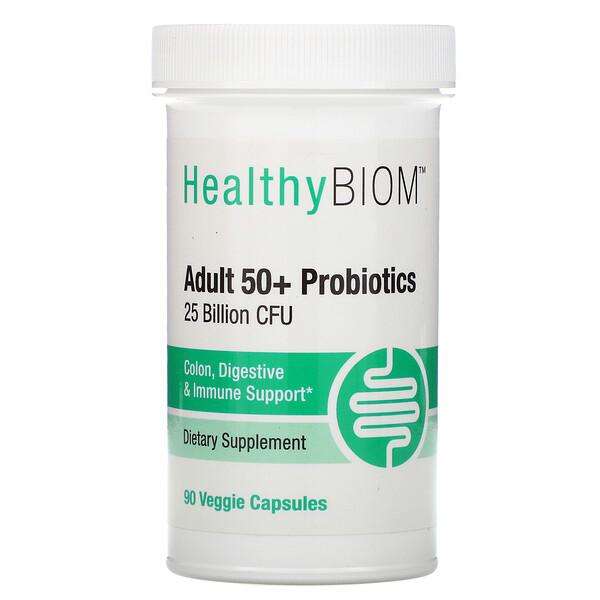 Пробиотики для людей старше 50 лет, 25млрд КОЕ, 90растительных капсул