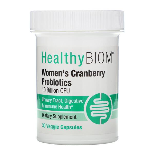 пробиотики с клюквой для женщин, 10млрд КОЕ, 30растительных капсул