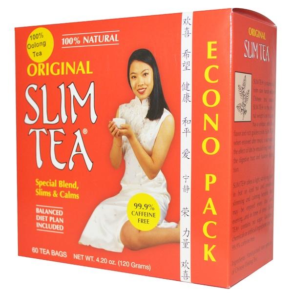 Hobe Labs, Чай для похудения Slim Tea, оригинальный, 60 пакетиков, 4,20 унции (120 г) (Discontinued Item)