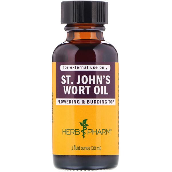 Herb Pharm, Масло зверобоя, 1 жидкая унция (30 мл)
