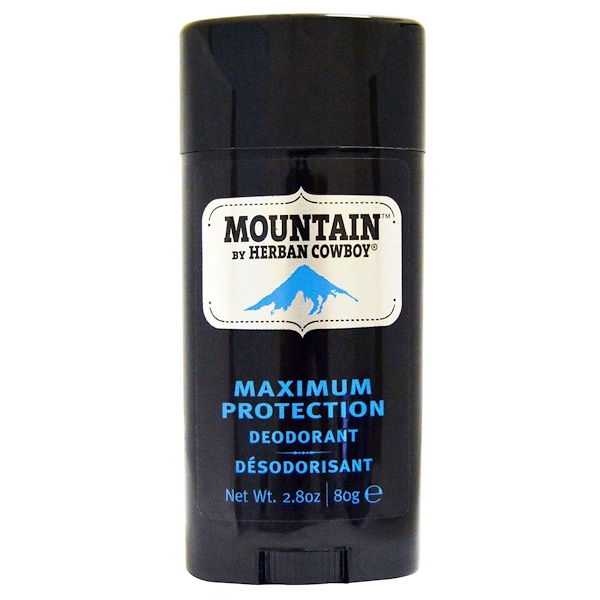 Herban Cowboy, Дезодорант максимальной защиты, Mountain, 2,8 унции (80 г) (Discontinued Item)