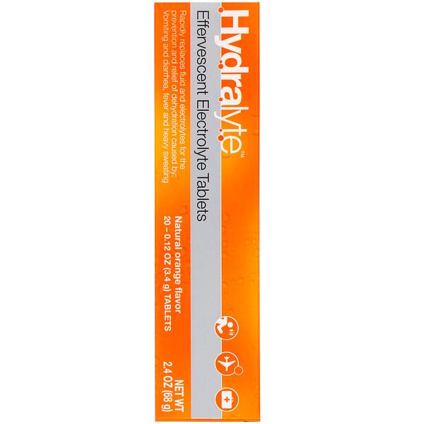 Шипучий электролит, натуральный апельсиновый вкус, 20 таблеток, 2,4 унции (68 г)