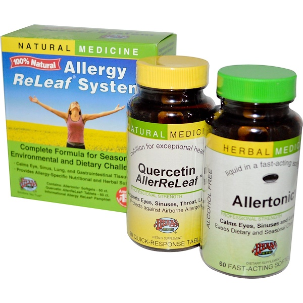 Allergy ReLeaf System, 2 Bottles, 60 Softgels/Tablets