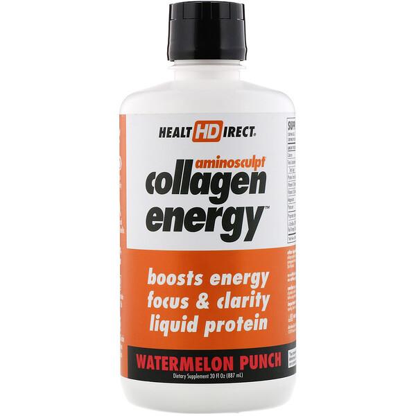 AminoSculpt Collagen Energy, Watermelon Punch, 30 fl oz (887 ml)
