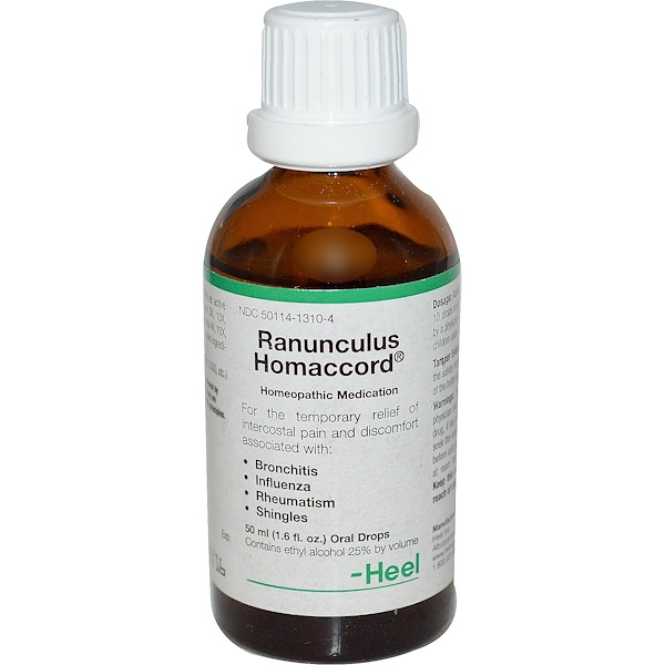 MediNatura, Ranunculus Homaccord, Oral Drops, 1.6 fl oz (50 ml) (Discontinued Item)