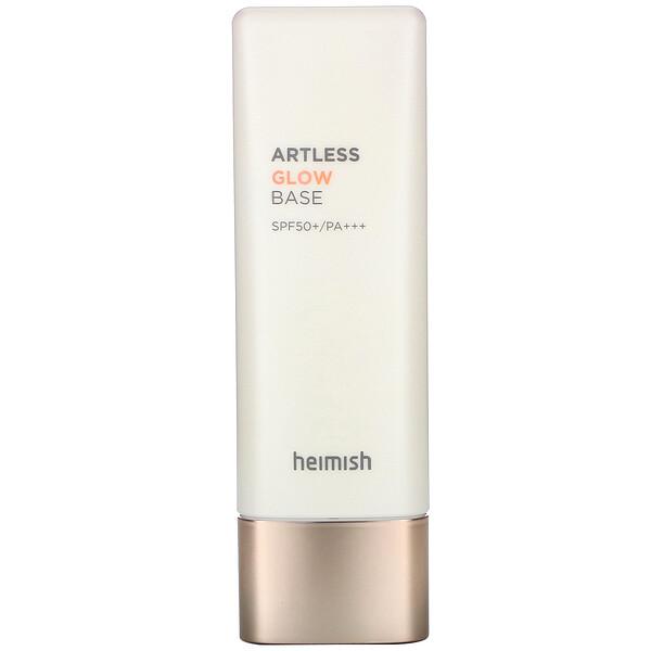 Heimish, Artless Glow Base, сияющая основа под макияж, SPF 50+ PA+++, 40мл