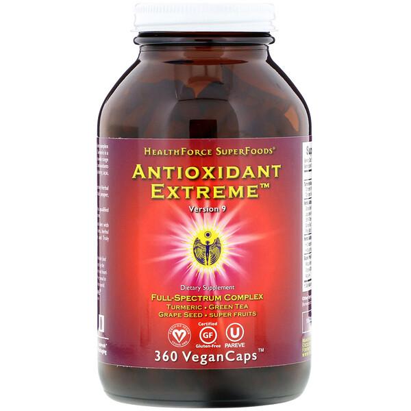 HealthForce Superfoods, Antioxidant Extreme, версия9, 360капсул VeganCaps
