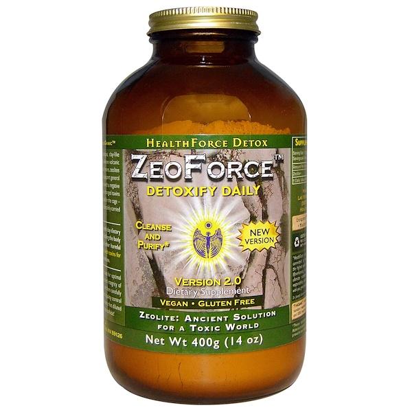HealthForce Superfoods, ZeoForce, ежедневная детоксикация, 14 унций (400 г) (Discontinued Item)
