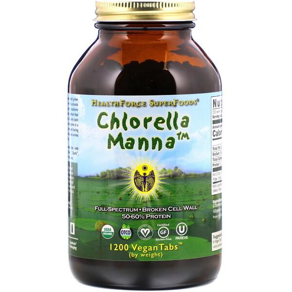 Хлорелла манна, 1200 растительных таблеток