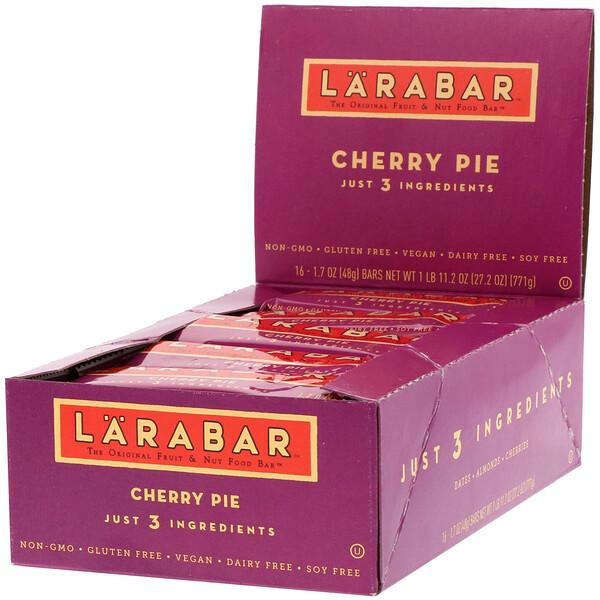 The Original Fruit & Nut Food Bar, Cherry Pie, 16 Bars, 1.7 oz (48 g) Each