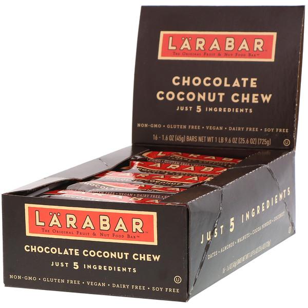 Тянучка с кокосом и шоколадом, 16 батончиков, 1,6 унции (45 г) каждый