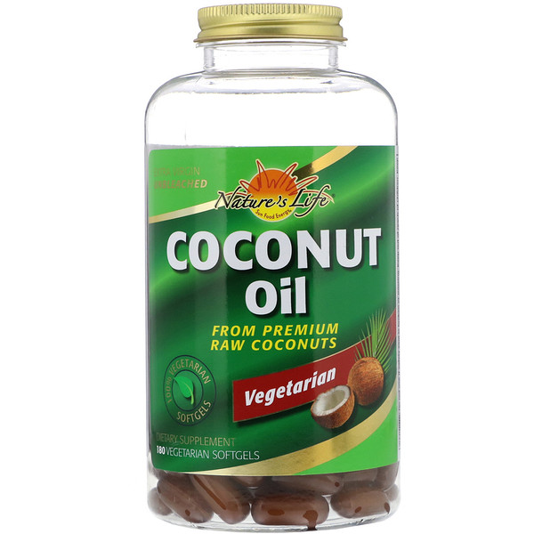 Health From The Sun, Coconut Oil, 180 Vegetarian Softgels