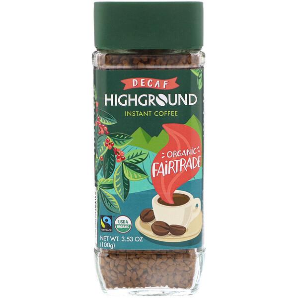 Органический растворимый кофе, средний, без кофеина, 100 г