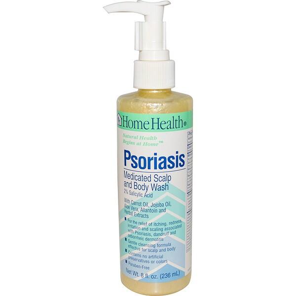 Псориаз, очищающий гель для кожи головы и тела, 8 жидких унций (236 мл)