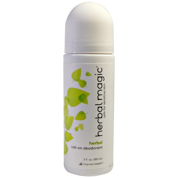 Home Health, «Травяное волшебство», шариковый дезодорант, запах трав, 3 жидких унции (88 мл)