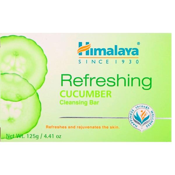 Himalaya, Освежающее очищающее кусковое мыло, огурец, 125 г (Discontinued Item)