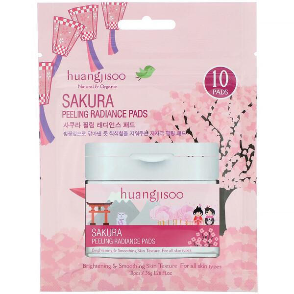 Sakura, Peeling Radiance Pads, 10 Pads, 1.26 fl oz (36 g)