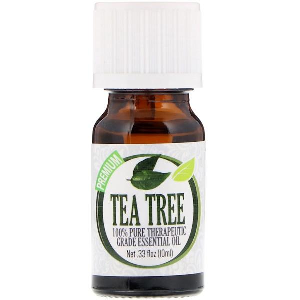 Healing Solutions, На 100% чистое эфирное масло терапевтического качества, чайное дерево, 10 мл (Discontinued Item)